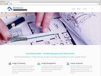 Interiors design website about facebook share by pageii studio
