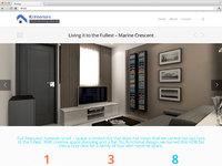 Interiors design website portfolio share by pageii studio