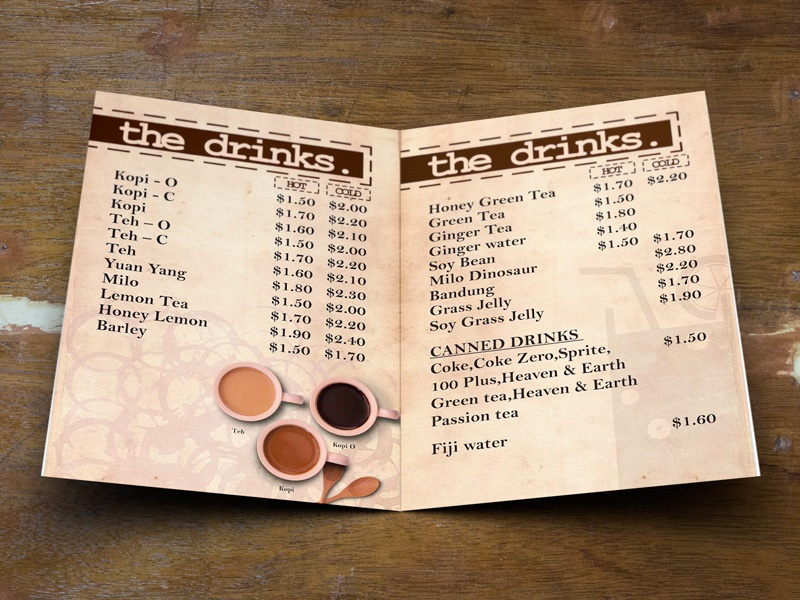 Old School Food And Drinks Menu By Pageii Studio - Dribbble