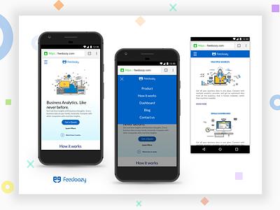 Feedoozy.com mobile site - redesign responsive design ui responsive mobile site