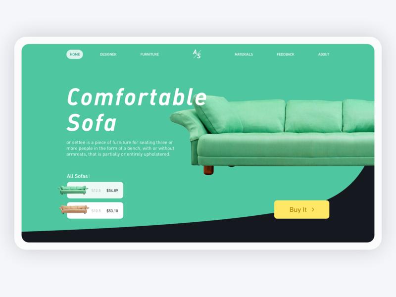 Need a comfortable sofa after work web design ui