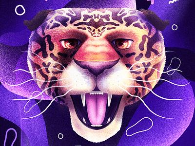 Panthere procreate illustration animal panther