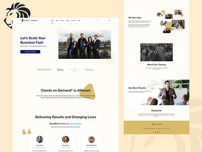 Clients On Demand Redesign Concept ui concept entrepreneur coach business redesign landingpage homepage web design concept ui design