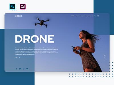 Drone Homepage Concept drone ui concept ui design web design