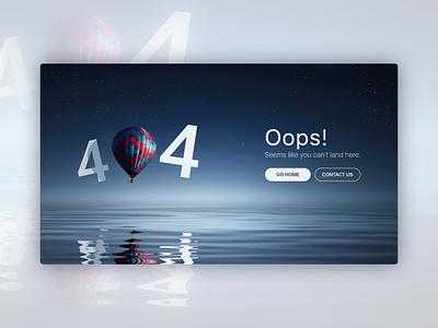 404 Page Concept web design ui design ui concept 404 error page