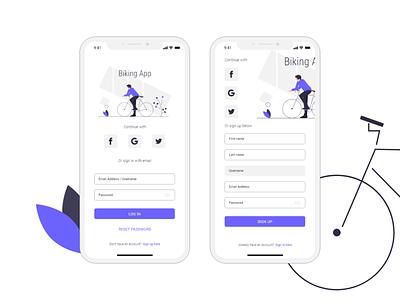 Login & Signup Concept mobile app ui concept ui design signup login page