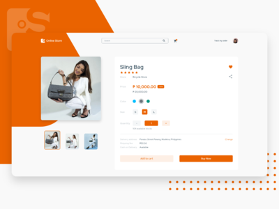 Shopping Page Concept