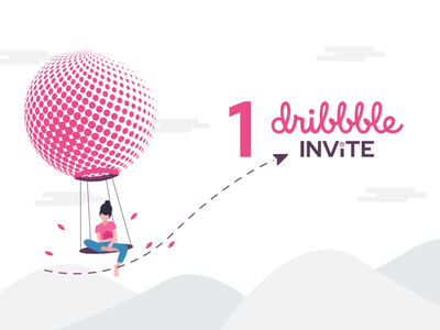 1 Dribbble Invite to give away illustration