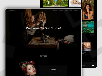 Photo Studio Homepage Concept
