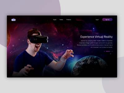VR Homepage UI Concept
