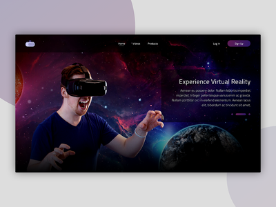 VR Homepage UI Concept landingpage homepage vr virtual reality concept web design ui design ui concept