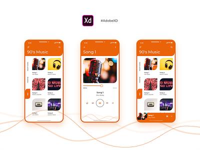 Music App Concept music songs concept mobile-app ios-app app