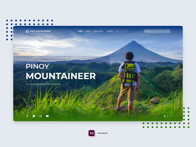 Pinoy Mountaineer Redesign Concept hiking mountaineering mountains mountaineer adobe xd landingpage homepage web design concept ui concept ui design