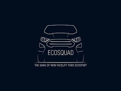 Ecosquad car club logo club logo car club