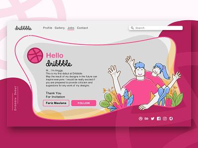 My first dribbble debut website web ui illustration debut shot design