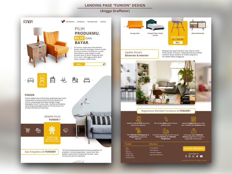 Landing Page Desain 01 simple design website web  design landing page branding ui design