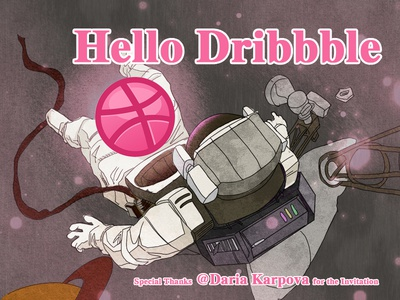 Hello Dribbbbbbble!My First Shot!