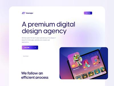 The Major - Website design ui branding website agency