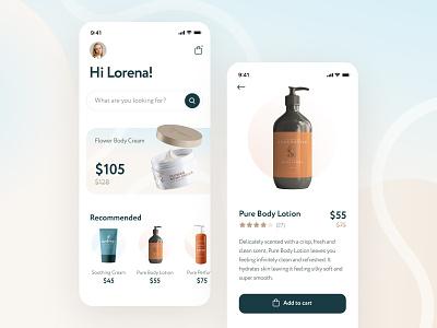 Beauty Store App Concept store beauty ux agency shop ecommerce app mobile design ui