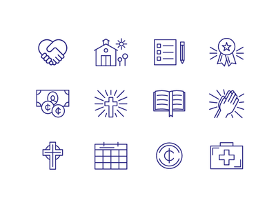 Catholic Schools Web Icons