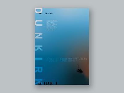 Movie Poster Challenge 005 / DUNKIRK graphic film poster film cinema redesign graphic design poster design movie poster design movie poster movie design