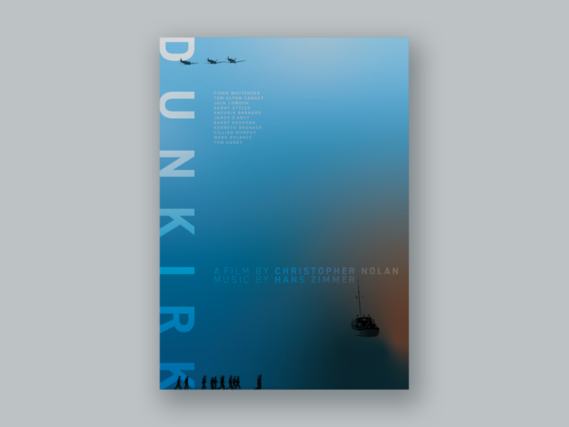 Movie Poster Challenge 005 / DUNKIRK graphic film poster film cinema redesign graphic design poster design movie poster design movie poster movie design