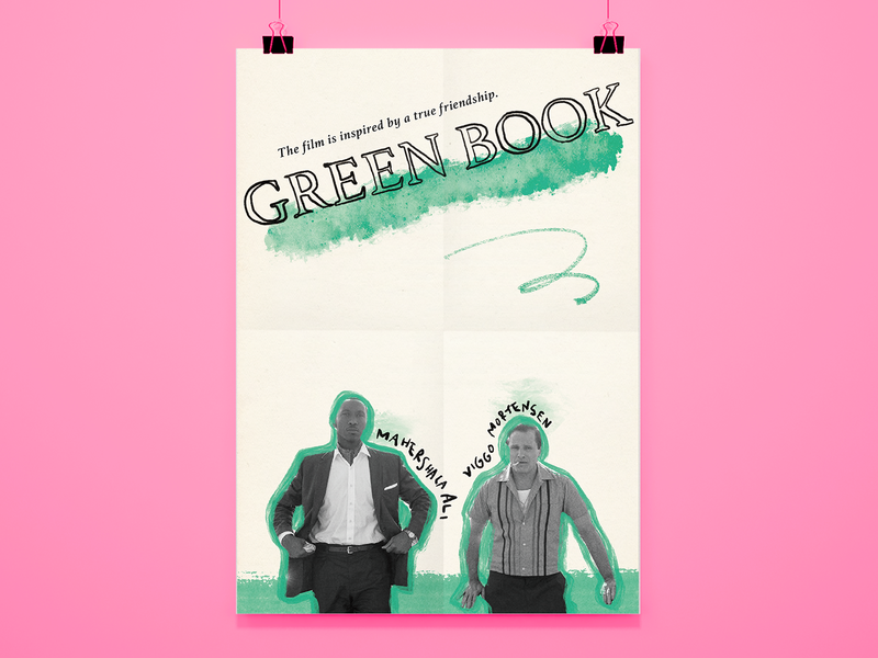 Movie Poster Challenge 006 / Green Book analog redesign movie poster film poster poster poster design graphic design design