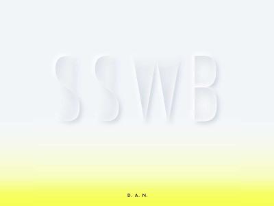 """Album cover design challenge / """"SSWB"""" redesign typography neumorphic design neumorphism graphic design graphic design"""