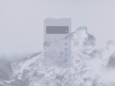 Daily UI #004_Calculator clear calculator water ice ui app uidesign design dailyui
