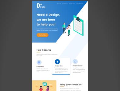 Landing page design - Day 3 UI Challenge