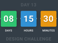 Countdown Design - Day 13 Design Challenge
