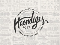 Haendiges Corp Brand Project: Concept 1 - Hand drawn Retro