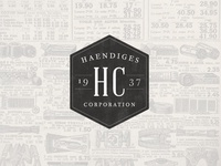 Haendiges Corp Brand Project: Concept 2 - Retro Badge