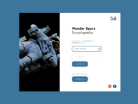 Wander Space Login Page