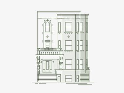 Chicago Three-Flat home condo flat chicago illustration