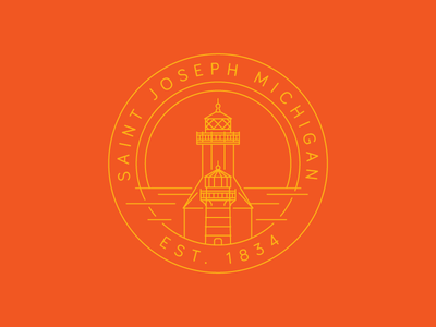 Saint Joseph Lighthouse emblem lighthouse mi michigan saint joseph
