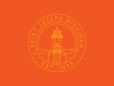 Saint Joseph Lighthouse emblem lighthouse mi michigan saint joseph