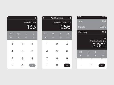 Calculator 004 day ui dailyui calculator