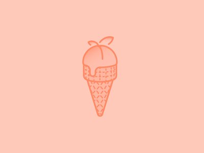 Peach Ice Cream Day ice cream icon illustration holiday peach