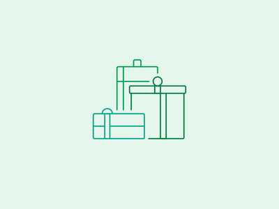 Boxing Day gifts boxes presents illustration