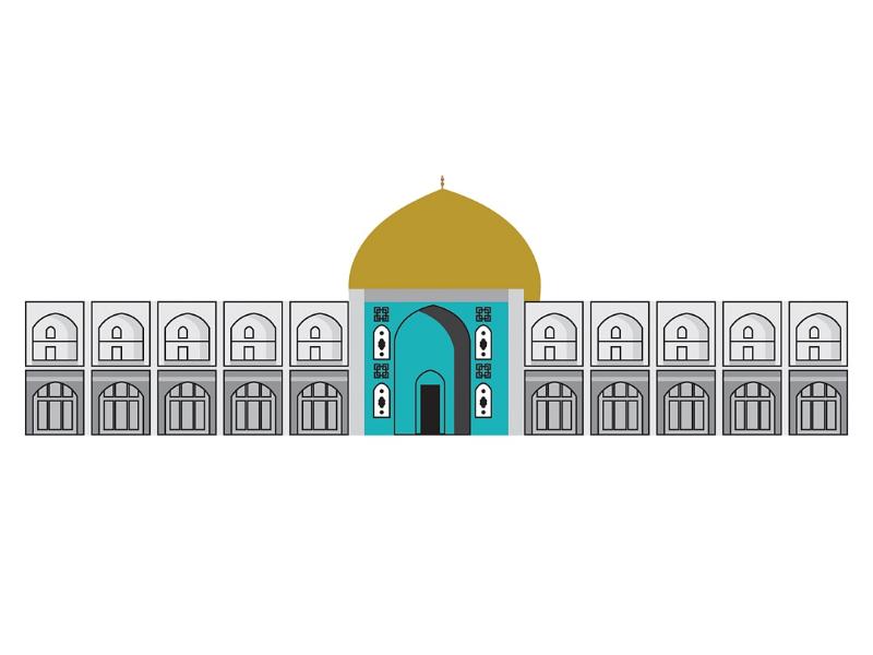 Sheikh Lotfollah Mosque illustration design
