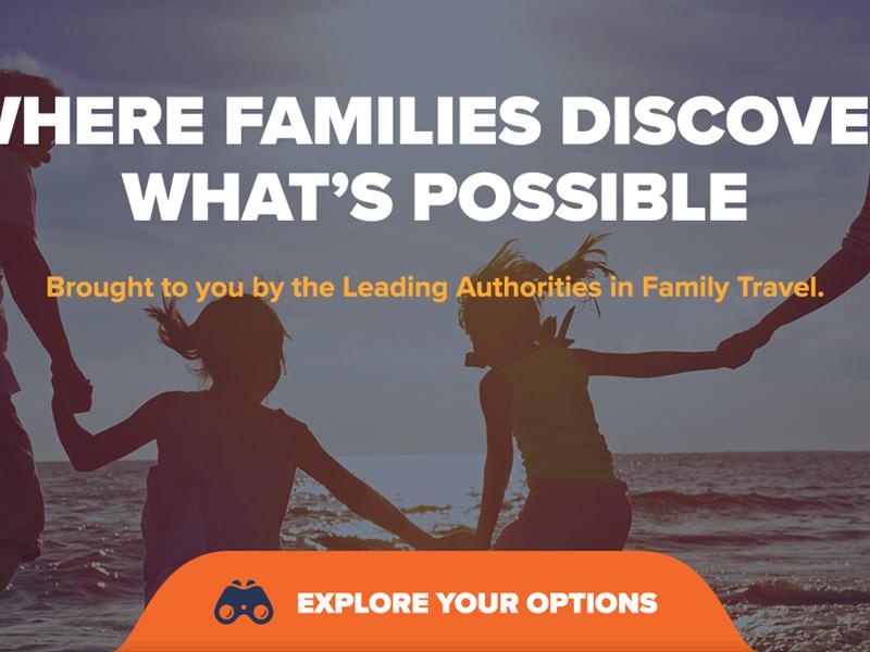 Family Travel Association — Home Page Mockups user interface user experience family travel visual design ui ux mobile desktop website