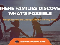 Family Travel Association — Home Page Mockups