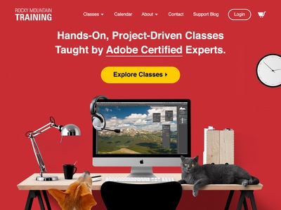 Rocky Mountain Training — Home Page Mockup red mockup desktop ui user interface ux website