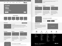 Binder — Home Page Wireframe