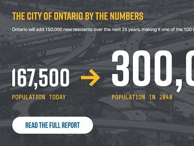 City of Ontario — Detail statistics stats numbers button desktop website california ontario