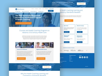 HSI — Home Page Mockup user experience user interface blue science health desktop website ui ux