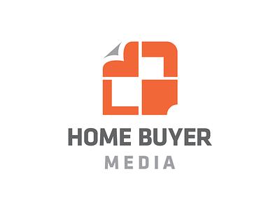 Home Buyer Media — Logo Concept gray orange concept logo