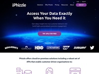 Phizzle — Home Page Mockup