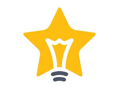 CJSF — Logo Concept shape filament lightbulb light bulb star yellow concept logo